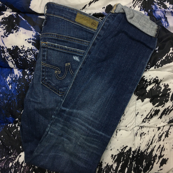 Ag Adriano Goldschmied Denim -  Adriano Goldschmied Cigarette Denim Jeans